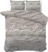 Sleeptime Love and Relax Dekbedovertrekset - Lits-Jumeaux - 240x200/220 + 2 kussenslopen 60x70 - Taupe