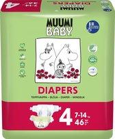 Eco Muumi Baby luiers maat 4 - 7-14 kg - 46 stuks - ecologisch
