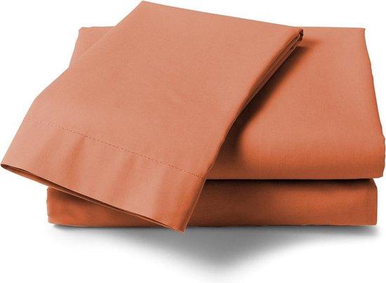 HnL Living - Laken - Katoensatijn - 270 x 290 cm - Oranje