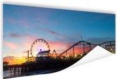 Santa Monica Pier Los Angeles Poster 90x60 cm - Foto print op Poster (wanddecoratie woonkamer / slaapkamer) / Steden Poster