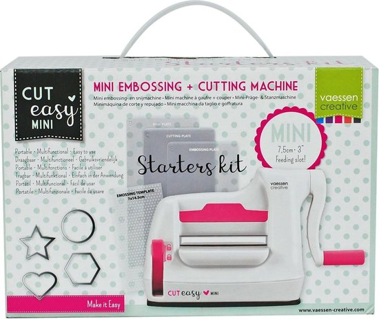 Afbeelding van Vaessen Creative Stansmachine - stansen - Mini Starterskit speelgoed
