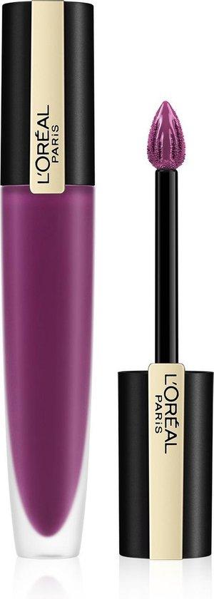 L'Oréal Paris Rouge Signature Lippenstift  - 104 I Rebel - Paars - Matte Vloeibare Lipstick