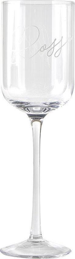 Riviera Maison Rode wijnglas - 26 cm - 1 stuks