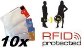 10x Anti Skim Hoes - Rfid blocker - Pinpas hoes - Creditcardhouder