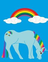 Rainbow and Unicorn College Rule Composition Book Notebook