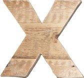 Houten Letter -X- Sloophout blank