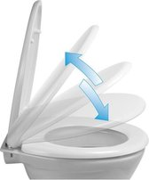 Afneembare Softclose WC-Bril - Toiletbril - Toiletzitting Universeel - Duroplast Wit