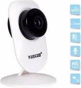 WiFi 720P IP Camera Wide Angle Draadloos Netwerk beveiligingscamera Beveiliging via Two-way Audio, Ontvang geluiden en verstuur geluiden naar de Baby Monitor opnamen via SD Card
