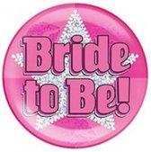 Vrijgezellen Button Bride To Be XL - Roze