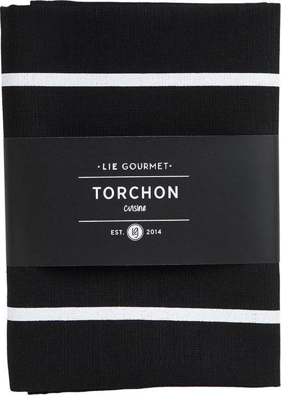 Lie Gourmet Kitchen Towel - 1 Pc. (Black) 50X70 Cm