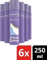 Andrélon Droogshampoo Fris & Zuiver - 6 x 245 ml - Voordeelverpakking