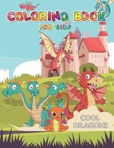 Coloring book for kids cool dragons