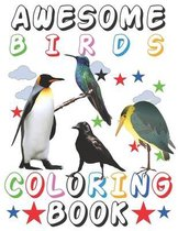 Awesome Birds Coloring Book