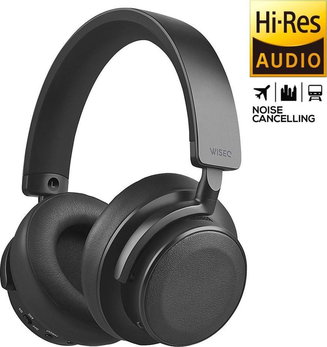 WISEQ ANCX100 – Noise Cancelling Koptelefoon | 98% Active Noise Cancelling | Bluetooth 5.0 aptX | Over-Ear | 30 uur batterij