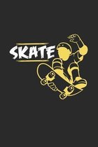 Skate: 6x9 Skateboarding - grid - squared paper - notebook - notes