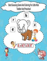 Best Guessing Game And Coloring For Little Kids Toddler And Preschool