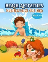 Beach Activities Coloring Book for kids