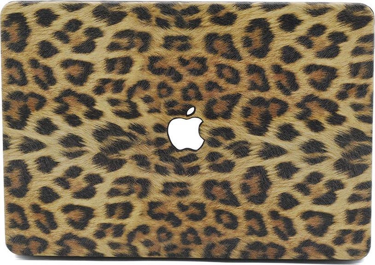 Lunso - cover hoes - MacBook Air 13 inch (2010-2017) - Leopard Pattern Brown kopen