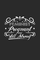 Feminist pregnant strong: 6x9 Feminism - dotgrid - dot grid paper - notebook - notes