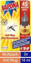 Vapona Anti Mug Stekker Navullingen Voordeelverpakking
