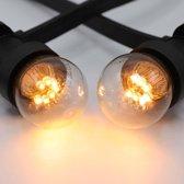 Prikkabel set met LED lampen, 10 meter met 10 fittingen - 0,7 watt lampen (2000K)