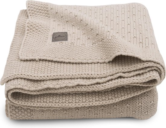 Product: Jollein Ledikant deken Bliss knit 100x150cm - nougat, van het merk Jollein