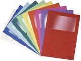 Exacompta L-map met venster Forever geassorteerde kleuren pak van 10 stuks
