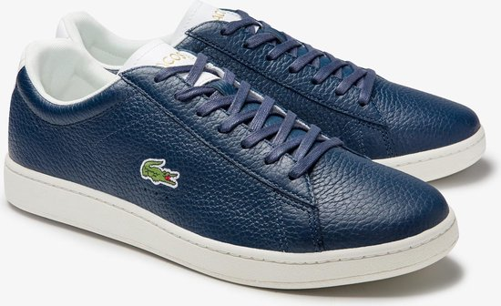 Lacoste Carnaby Evo 2 SMA Heren Sneakers - Navy/White - Maat 44