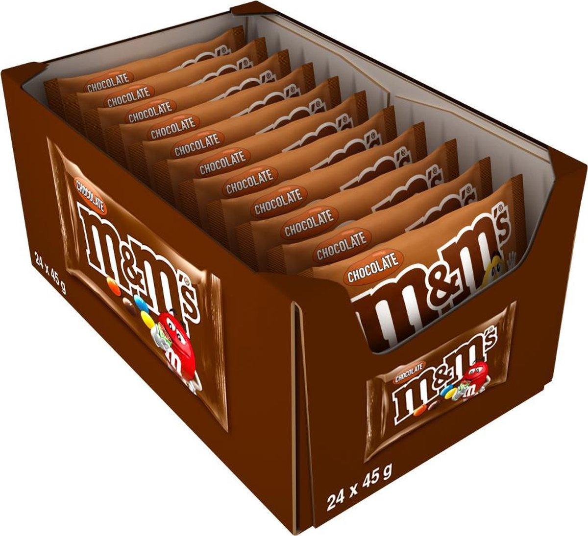 M&M'S choco melkchocolade uitdeelzakjes - 24 x 45 gram