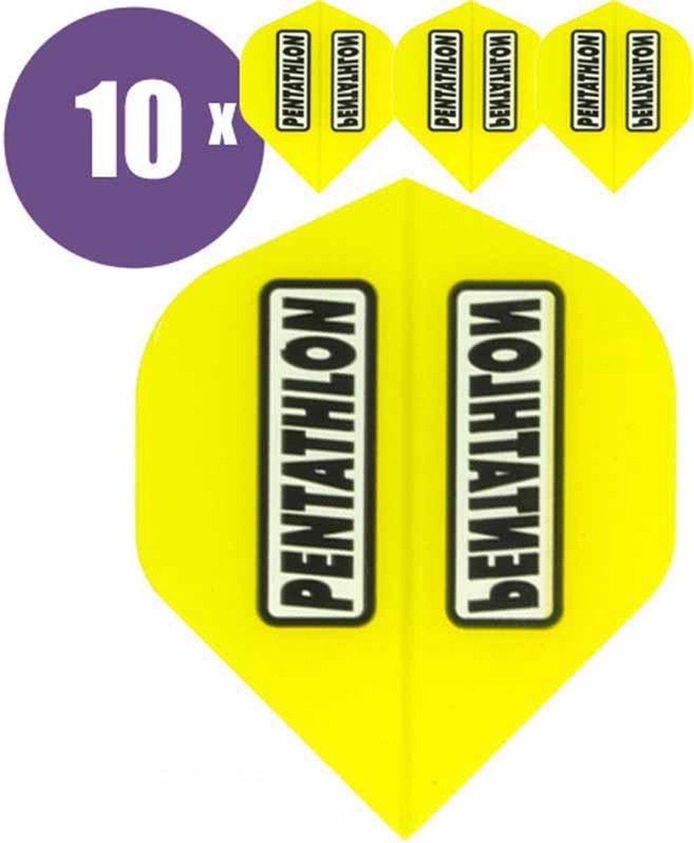 ABC Darts - Dart Flights - Pentathlon Classic Geel - 10 sets (30 stuks)