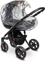 Caretero Regenhoes - regenkap - Kinderwagen - reiswieg Universeel met ventilatie openingen