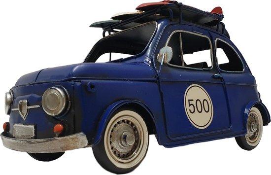 Bol Com Miniatuur Autos Blauwe Auto Als Decoratie Modelauto 33cm Metalen Auto