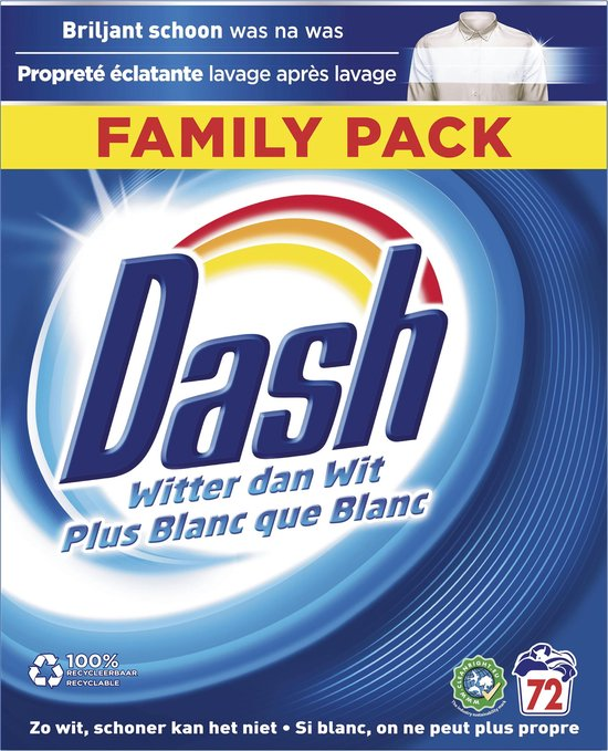 Dash Regular Wasmiddel - 72 Wasbeurten - Waspoeder