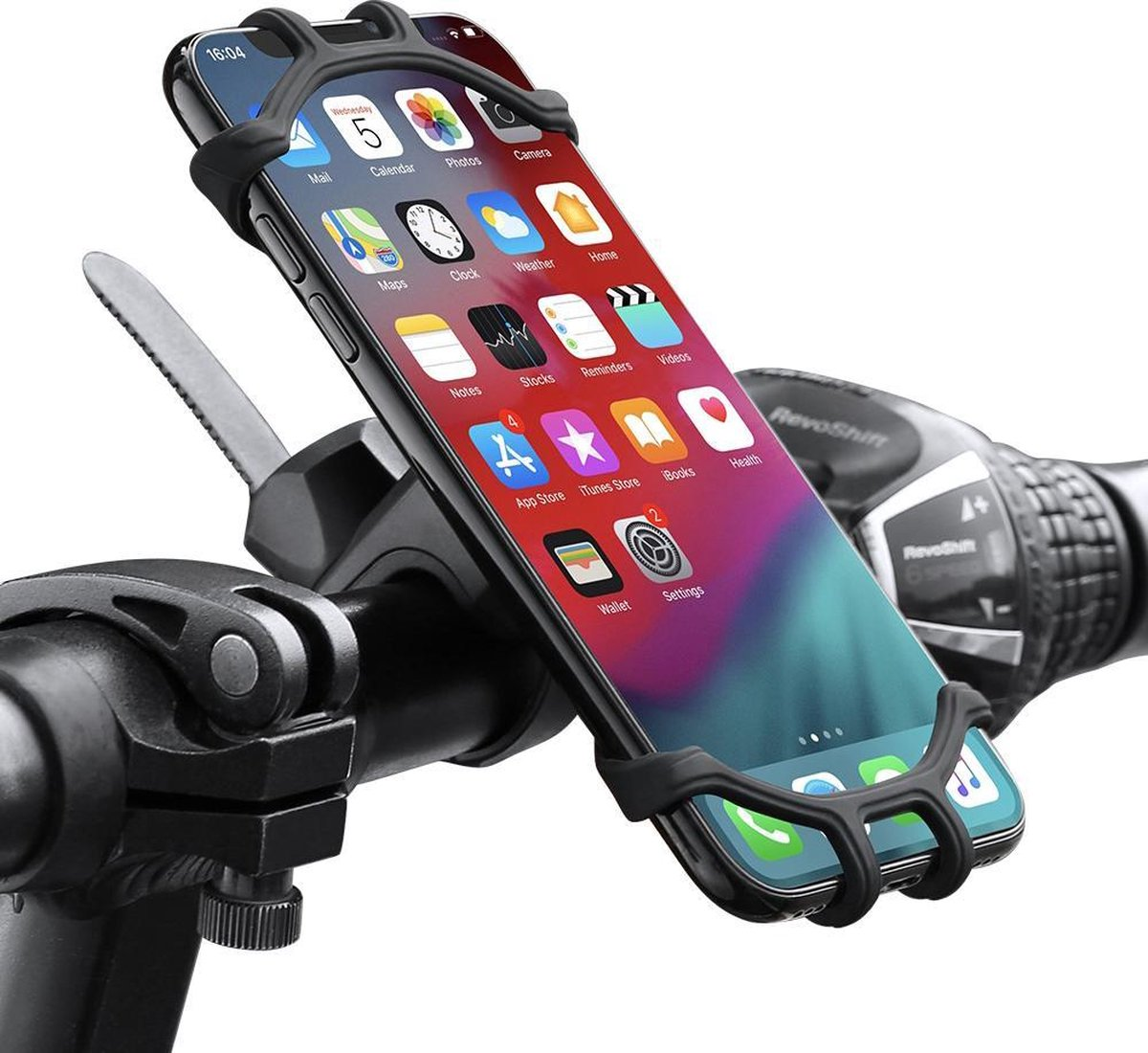 Telefoonhouder fiets en motor siliconen   Fietshouder Fiets accessoires 360 graden draaibaar gsm-hou