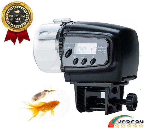 Automatische visvoer | Voederautomaat | Auto Feeder | Automatisch voeren eten geven | Visvoer dispenser | Voederautomaat voor aquarium met LCD-display geschikt voor vakantie |Food Feeder