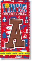Tony's Chocolonely Melkchocolade Letterreep  A  180 Gram