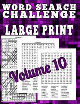 Word Search Challenge Large Print: Word Search Challenge Large Print