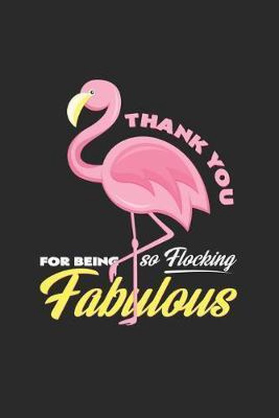 Thank you: 6x9 Flamingo - grid - squared paper - notebook - notes