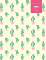 Cornell System Notes 110 Pages: Cactus Notebook for Professionals and Students, Teachers and Writers - Succulent Llama Pattern