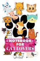 Notebook for Cat Lovers: Wide Ruled Blank Lined Paper Cat Notebook for School, Journaling, or Personal Use Composition Notebook for School Adul