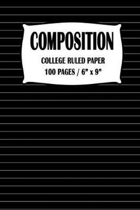 Composition College Ruled Paper Notebook