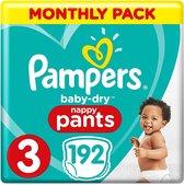 Pampers Baby-Dry Pants Luierbroekjes - Maat 3 (6-11 kg) - 192 stuks - Maandbox