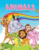 Animals Coloring Book for Kids: Children Activity Books for Kids Ages 2-4, 4-8, Boys, Girls, Fun Early Learning, Relaxation