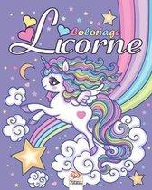 Licorne: Livre de Coloriage Pour les Enfants de 4 � 12 Ans