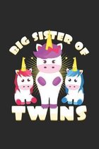 big sister of twins: 6x9 Twins - grid - squared paper - notebook - notes