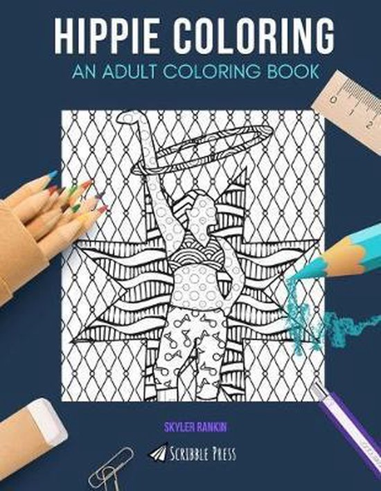 Hippie Coloring: AN ADULT COLORING BOOK: Hula Hooping & Astrology - 2 Coloring Books In 1