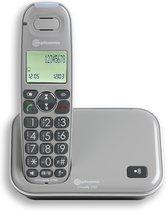 Amplicomms PowerTel 2700BNL grijs Senioren DECT telefoon vaste lijn met grote toetsen en groot display