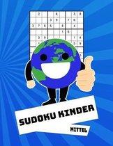Sudoku Kinder Mittel: 100 R�tsel - R�tselblock Mit L�sungen 9x9 - Grundschule