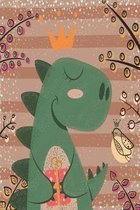 Dinosaur princess notebook: Notebook for royal dinosaur
