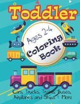 Cars, Trucks and Planes Coloring Book For Toddlers